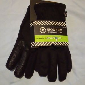 Isotoner smartouch gloves Men NWT Black